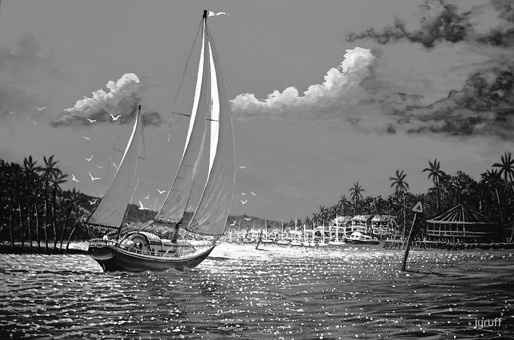 Moonlit Harbor by jyruff