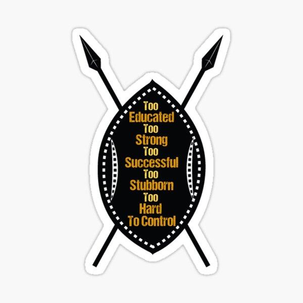 Warrior Shield Sticker
