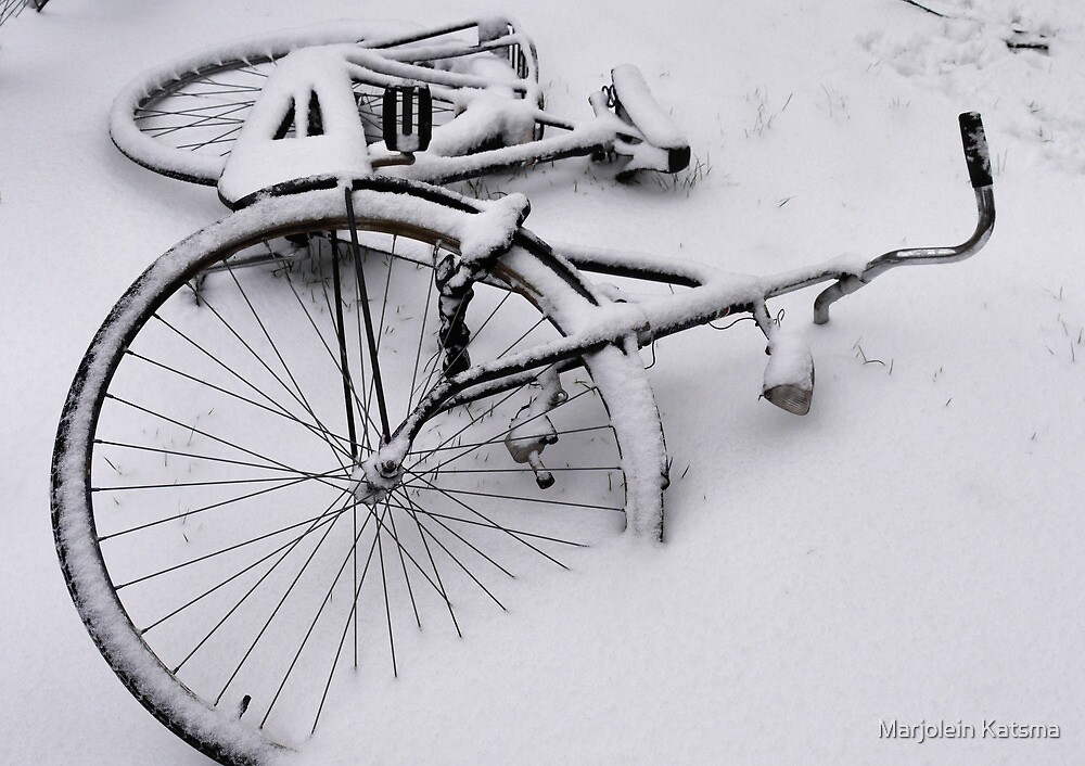 Abandoned in the snow by Marjolein Katsma