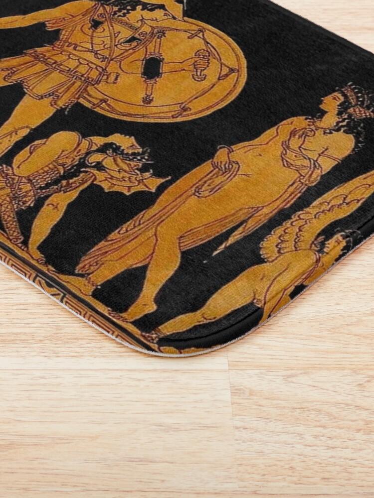 Alternate view of GREECE : Ancient God and Goddess Frieze Print Bath Mat