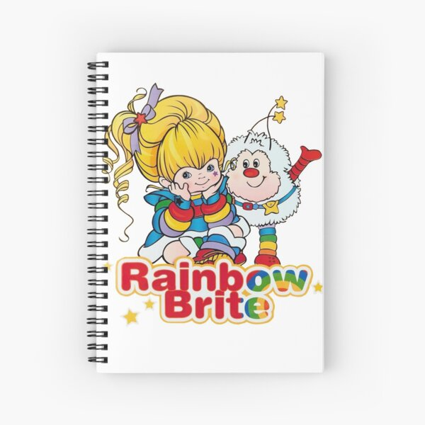Rainbow Brite Spiral Notebook