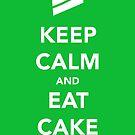 Keep Calm & Eat Cake by thetangofox