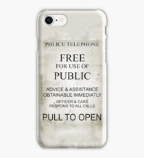 police telephone iPhone Case/Skin