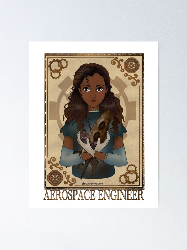 Alternate view of Aerospace Engineer (Steampunk art) Poster