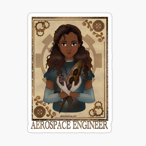 Aerospace Engineer (Steampunk art) Sticker