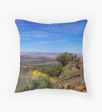 High In The Steens Throw Pillow