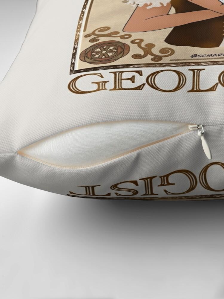 Alternate view of Geologist (Steampunk art) Throw Pillow