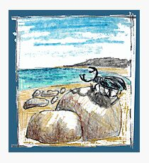 BEETLE ON THE BEACH Photographic Print