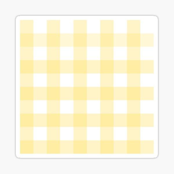 Pastel Yellow Gingham Pattern (Large Wide Print) Sticker