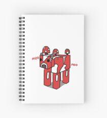 Minecraft Mooshroom Design Spiral Notebook
