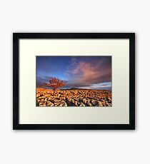 Sunset in the Yorkshire Dales Framed Print