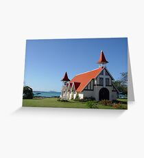 Mauritius rote Kirche Greeting Card