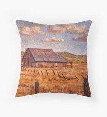 Barn Near Hayden Hill Throw Pillow