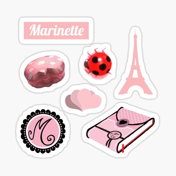 Marinette Aesthetic Stickers (version 1) Sticker