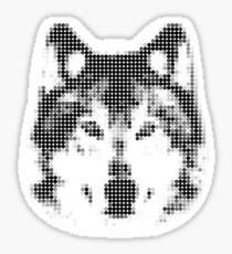 Digital Wolf Mosaic Sticker