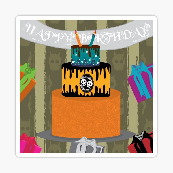Twin Birthday cake Sticker