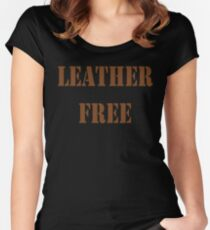 LEATHER FREE Women's Fitted Scoop T-Shirt