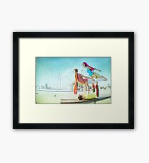 Acroyoga with two flyers Framed Print