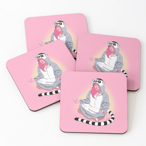Zen Lemur Coasters (Set of 4)