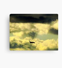 Flying through clouds Canvas Print