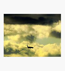 Flying through clouds Photographic Print