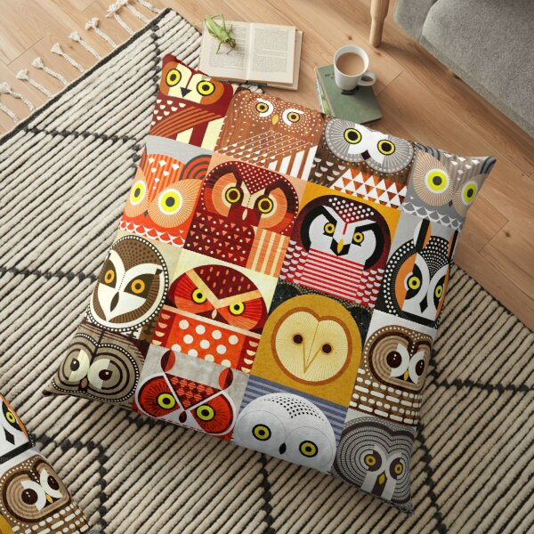 North American Owls Floor Pillow
