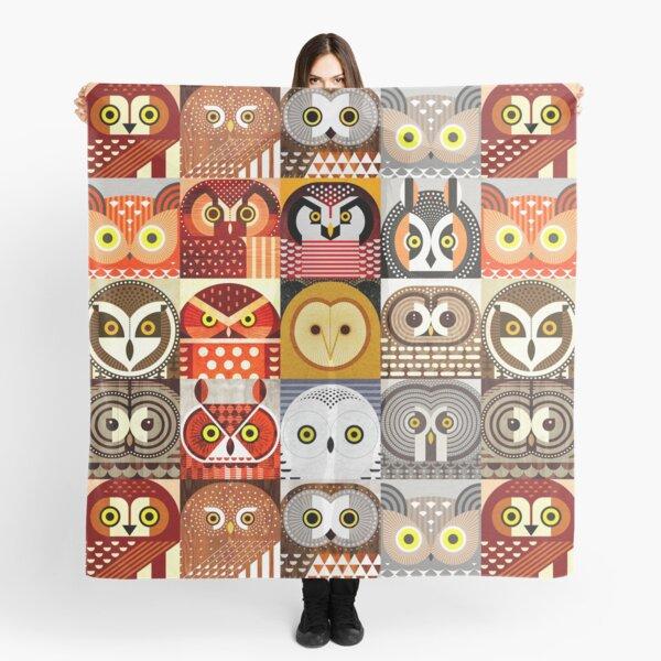 North American Owls Scarf