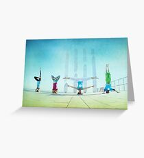 Headstand variations at Barcelona Greeting Card