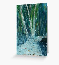 Stopping By Woods on a Snowy Evening. Greeting Card