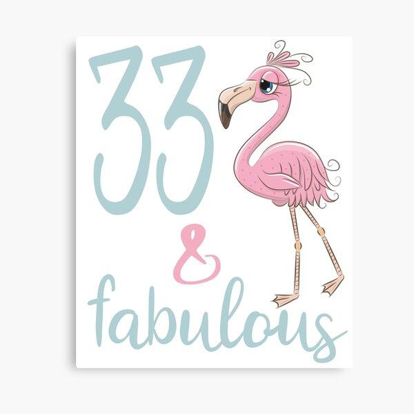 33.o regalo de cumpleaños para mujeres 33 años Treinta y tres fabulosos trajes de fiesta de flamenco Bday Lienzo