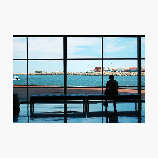 Watching The Boats Go By.  Photographic Print
