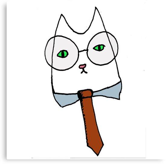 Cubicle Cat by Danielle  La Valle