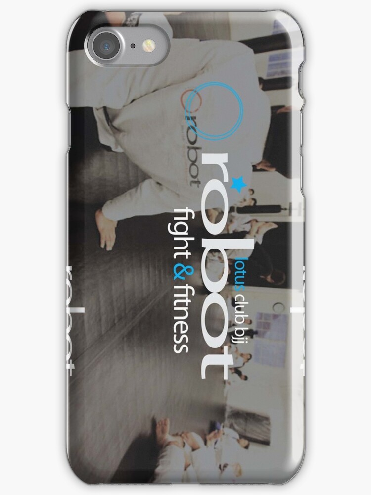 Robot Fight & Fitness IPhone Case by dmelikt