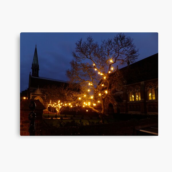 Christmas Lights at St. Mary's Canvas Print