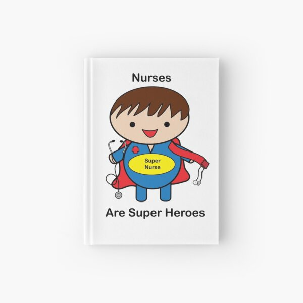 Nurse Super Hero Male Kawaii Hardcover Journal