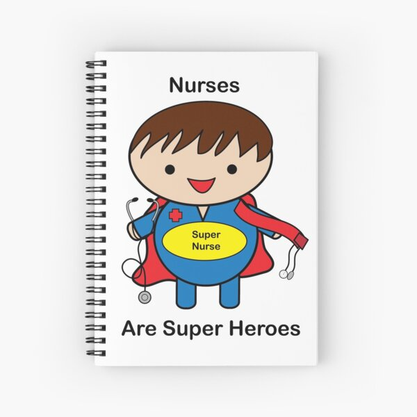 Nurse Super Hero Male Kawaii Spiral Notebook