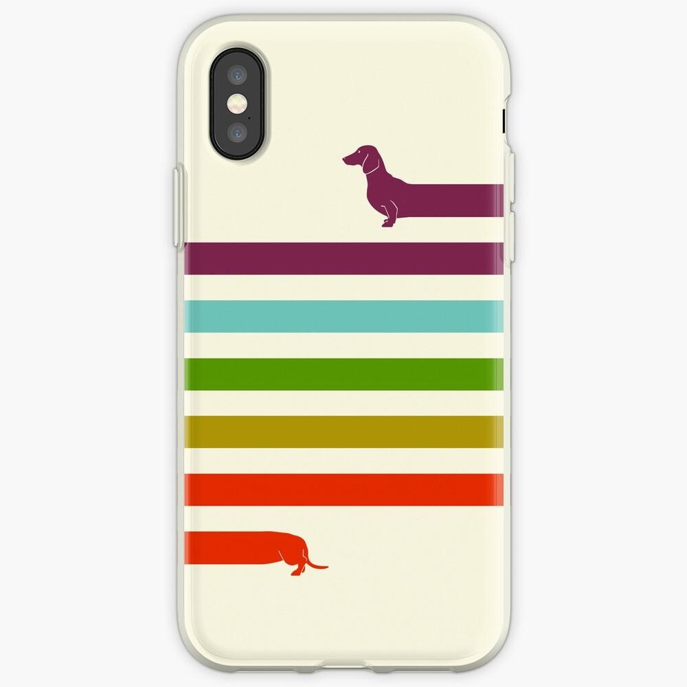 (Very) Long Dachshund Vinilos y fundas para iPhone
