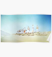 Yoga practice at the beach Poster