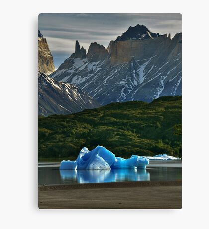 Iceberg and Mountains Canvas Print