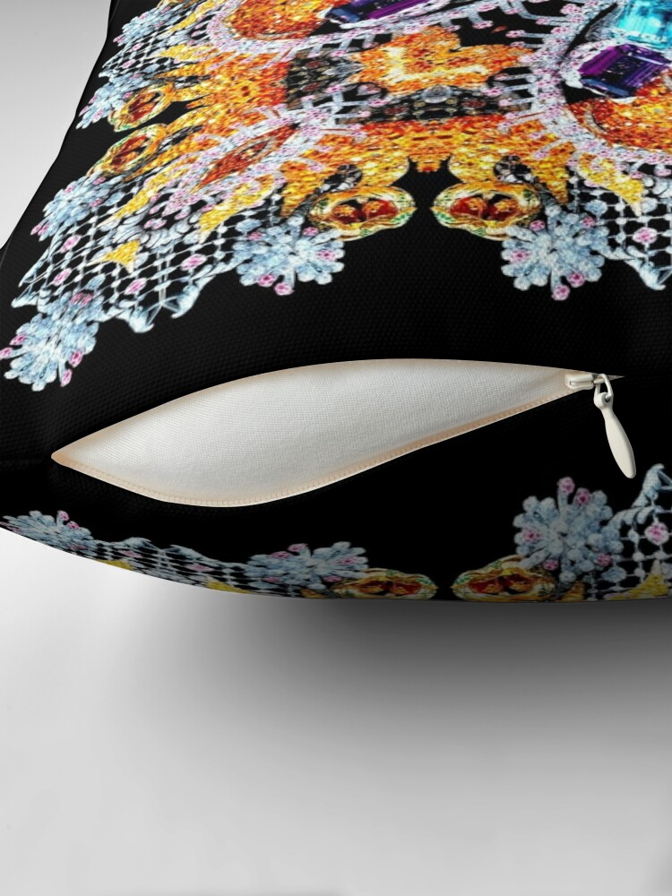 Alternate view of Krazy Kaleidoscope 1037 Throw Pillow
