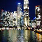 Singapore Skyline Fractalius by Chris Cherry