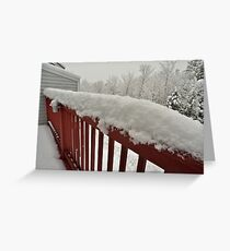 First snow of the season comes to the New England Greeting Card