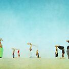 Group Partner Yoga in the beach by Wari Om  Yoga Photography