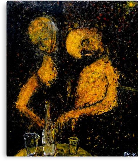 drunken couple by glennbrady