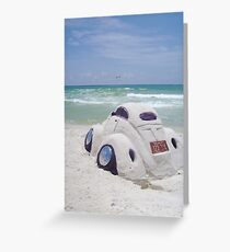 VW sand sculpture Greeting Card