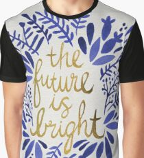The Future is Bright – Navy & Gold Graphic T-Shirt