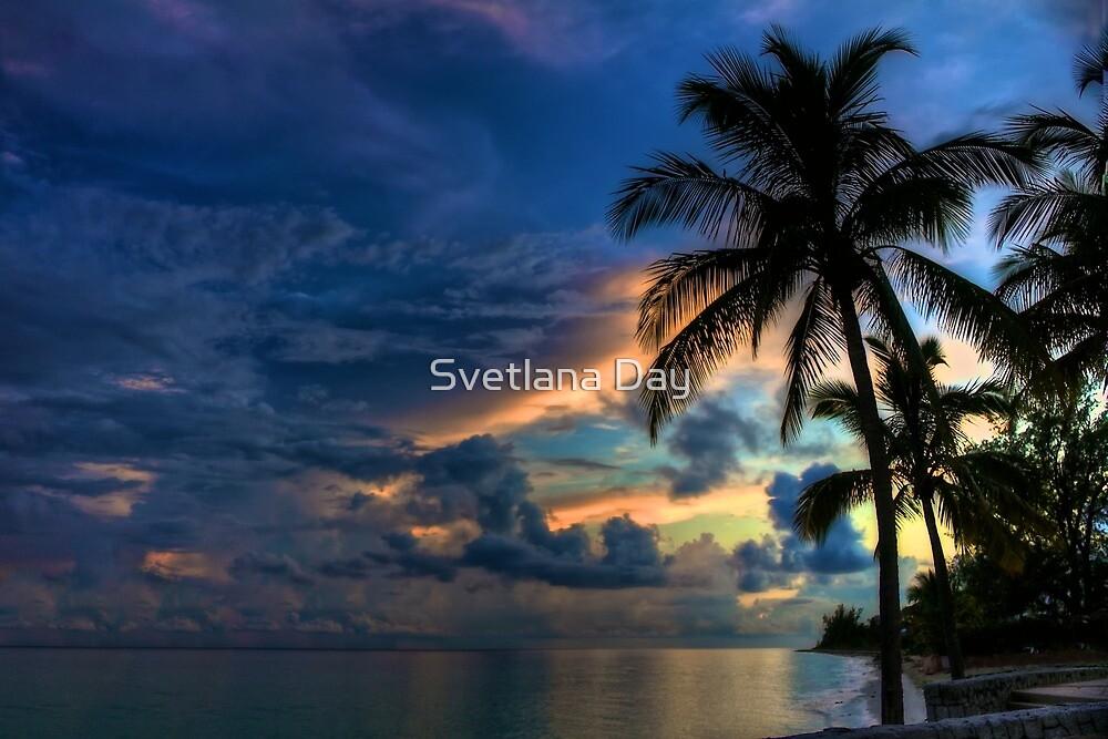 Sunset in the Bahamas by Svetlana Day