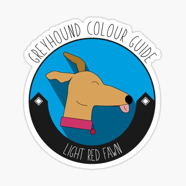 Greyhound Colour Guide - Light Red Fawn Sticker