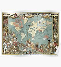 Vintage British Empire World Map (1886) Poster
