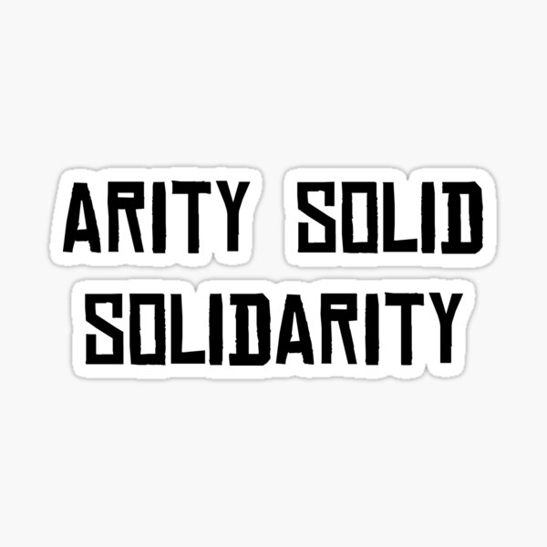 Solidarity | Black Sticker